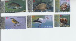 2014 Moldova Fauna (6) (Scott 838-43) MNH