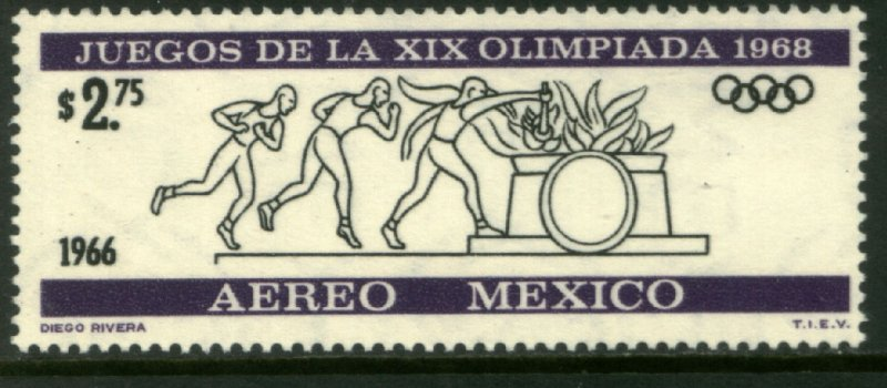 MEXICO C320, $2.75P 2nd Pre-Olympic Issue - 1966 MINT, NH. VF.