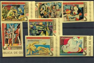 Equatorial Guinea 1975 PICASSO Paintings Set (7) Imperforated Mint (NH)