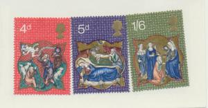 Great Britain Scott #645 To 647, Christmas Issue From 1970 - Free U.S. Shippi...