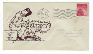 VEGAS - 1943 USA Submarine USS Blenny Keel Laid Cover - Groton, CT - EQ111