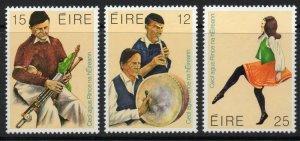 IRELAND SG466/8 1980 TRADITIONAL MUSIC AND DANCE MNH