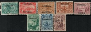 Portugal 1911 SC 199-206 Mint SCV $120.00 Set