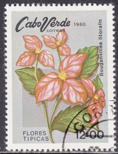 Cape Verde 420 Used 1980 Bougainivillia Litoralis