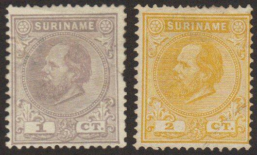 Surinam #1-2 used first issue