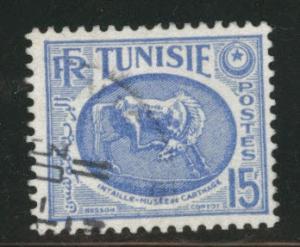 Tunis Tunisia Scott 223 used 1953 horse stamp