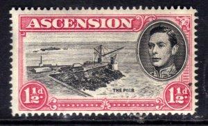 Ascension Island 1938 - 53 KGV1 1 1/2d The pier MM SG 40d ( R631 )