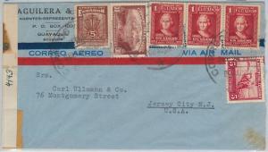 64828 - ECUADOR - POSTAL HISTORY - CENSORED COVER to USA 1942 Agricolture
