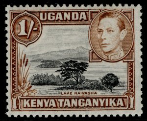 KENYA UGANDA TANGANYIKA GVI SG145b, 1s black & brown, M MINT. Cat £23.