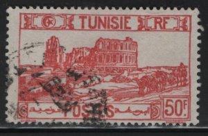 TUNISIA , 113C, USED, 1926-46 Roman Amphitheater, El Djem
