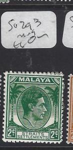 MALAYA STRAITS SETTLEMENTS (PP0510B)  KGVI  2C  SG 293      MOG