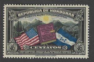 HONDURAS Scott #C84Mint46c Flags USA & Honduras Airmail stamp 2018 CV $2.75