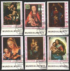 Ecuador. 1967. 1345-50. Madonna in painting, religion. USED.
