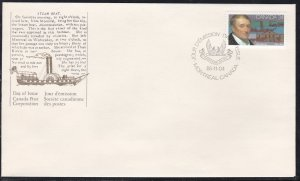 Canada # 1117, John Molson, First Day Cover