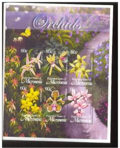 MICRONESIA SHEET FLOWERS ORCHIDS