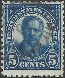 # 557 Used Dark Blue Theodore Roosevelt