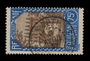 SOUD.-FRANÇAIS/MALI - 1937 - CAD MOPTI / S0UDAN FRANÇAIS SUR N°75