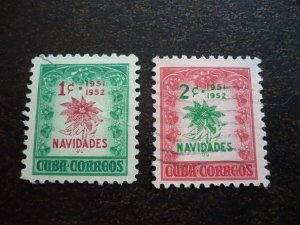 Stamps - Cuba - Scott#469-470  - Used Set of 2 Stamps