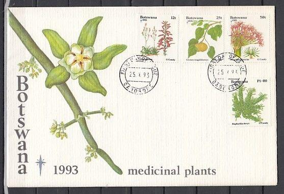 Botswana, Scott cat. 588-561. Christmas issue, Medicinal Plants First day cover.