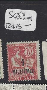 FRANCE OFFICES IN EGYPT (P1808B) PORT SAID SC 58    MNH