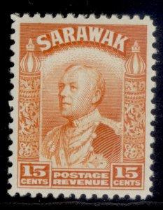 SARAWAK GV SG115, 15c orange, M MINT.