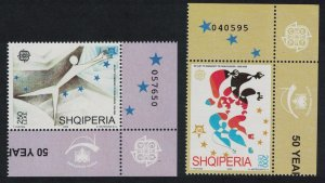 Albania Europa Stamps 2v Corners Control Number 2006 MNH SG#3065-3066