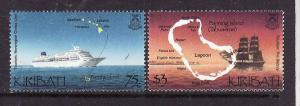 Kiribati-Sc#786-7-Unused NH set-Ships-Tourism-2001--please note there is a spot