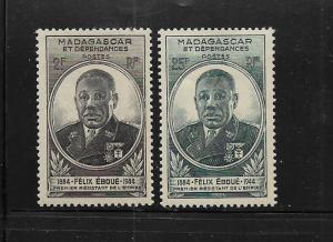 MALAGASY REPUBLIC, 259-260, MINT HINGED, EBOUE ISSUE