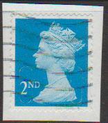 GB QE II Machin SG U2963 - 2nd brt blue -  MA10 - Source  T