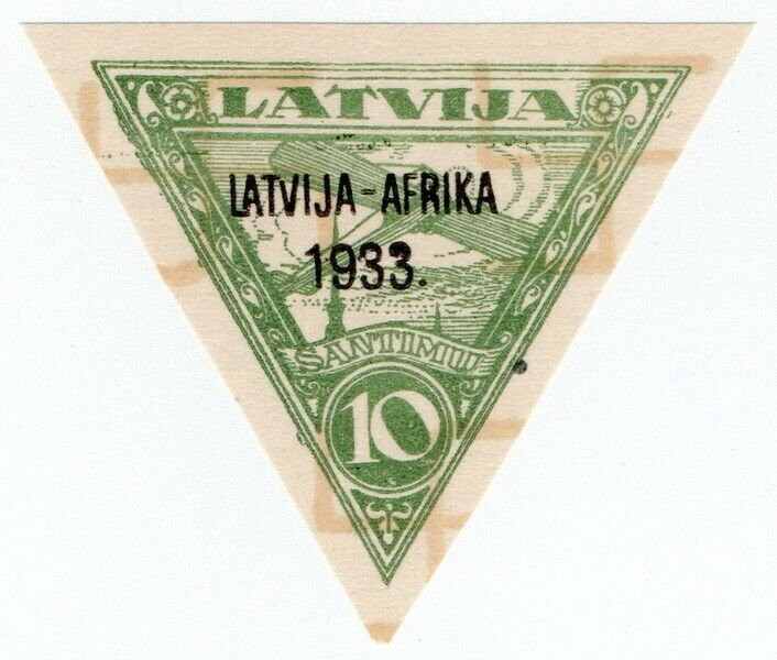 (I.B) Latvia Postal : Africa Overprint 10s