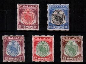 Malaya-Negri Sembilan Scott 54-8 Mint hinged (Catalog Value $93.75)
