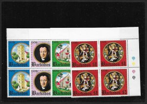 BARBADOS Sc#420-423 Complete Mint Never Hinged Set BLOCKS of 4