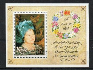 Niue 1990 Queen Mother's Birthday MS MNH