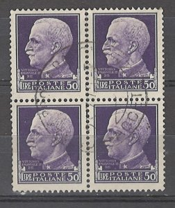 COLLECTION LOT # 4961 ITALY #231 WMK 140 BLOCK OF 4 1929 CV+$160