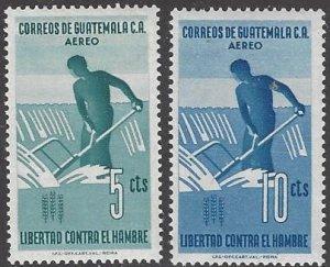 Guatamala C271-2  MNH  FAO Freedom From Hunger 1963