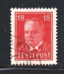 Estonia Sc 127 1938 18s deep carmine President Pats stamp used