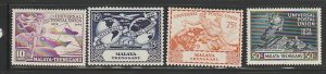 MALAYA-TRENGGANU #49-52 MINT HINGED COMPLETE