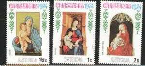 ANTIGUA Scott 353-355 MNH** Christmas 1974 short set