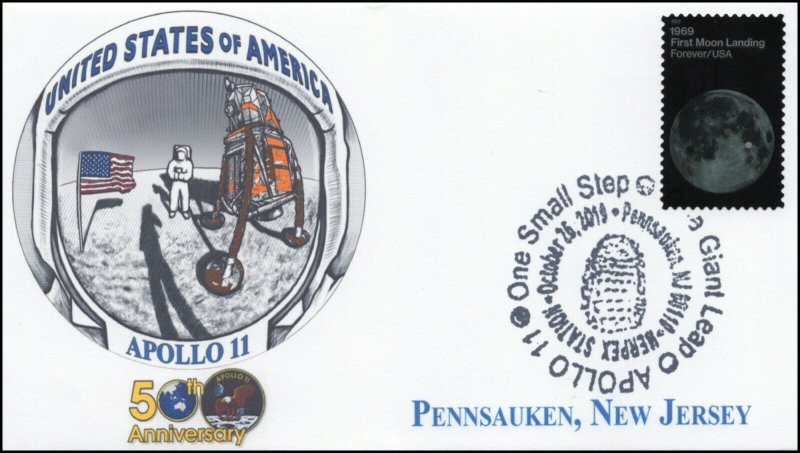 19-231, 2019, Moon Landing, Pictorial Postmark, Event Cover, Apollo 11, 50th Ann