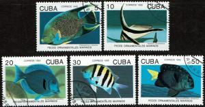 Cuba Scott 3417-3421 (SW 3594-3598) Used/CTO (1992) Complete - Fish