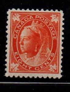 Canada Sc 72 1897 8 c orange Victoria Maple Leaf stamp mint