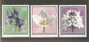 2014   LIECHTENSTEIN  -  SG  1686 / 1688  -  BOG FLOWERS  -  UMM