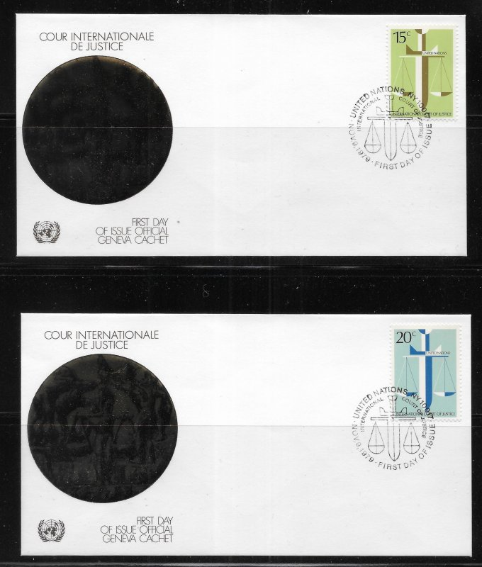 United Nations 314-5 ICJ Geneva Cachet FDC First Day Cover