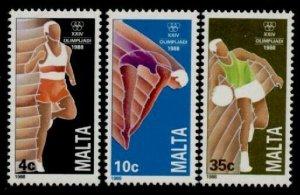 Malta 727-9 MNH Olympic Sports, Basketball, Diving, Athletics