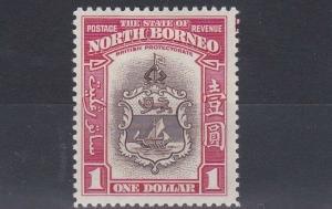 NORTH BORNEO  1939  S G 315  $1  BROWN & CARMINE    MH  CAT £150