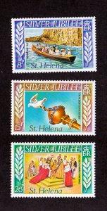 St. Helena MH 311-3 Silver Jubilee QE II 1977