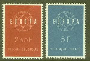 Belgium Scott 536-7 MH* 1959 Europa set