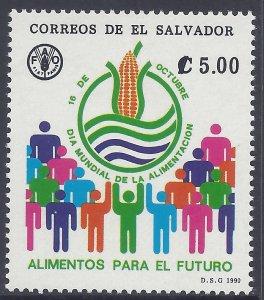 EL SALVADOR WORLD FOOD DAY, FAO, Sc 1248 MNH 1990