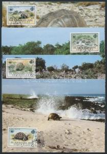 Seychelles-Zil Elwannyen Sesel stamp WWF Turtles set CM Cover 1985 WS202830