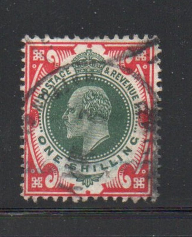 Great Britain Sc 138a 1911 1/  scarlet & dark green Edward VII stamp used